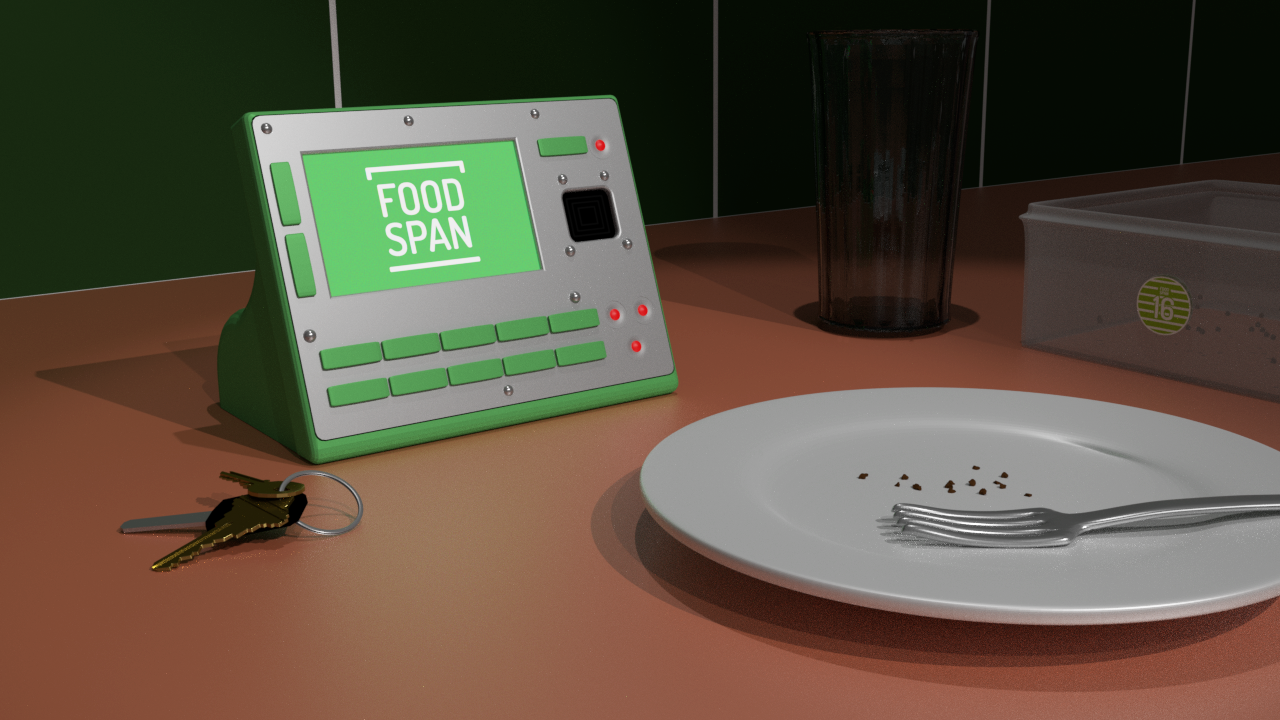 3D Model Preview of what FoodSpan looks like